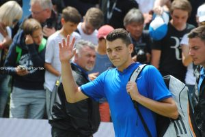 Taylor Fritz made his tournament debut in Stuttgart
