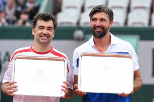 Sergi Bruguera and Goran Ivanisevic (photo: Gouhier Nicolas/FFT)