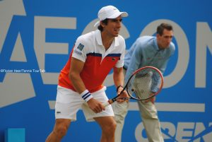 Pablo Cuevas seems to feel comfortable on the grass in Nottingham