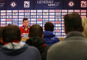 Saturdays press conference with Dominic Thiem photo: GEPA pictures/ Andreas Pranter)