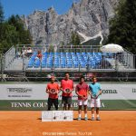 Doubles finalists Cortina