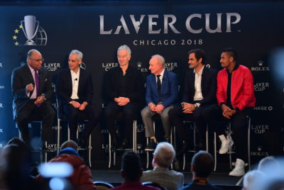 Rod Laver, Roger Federer, John McEnroe And Nick Kyrgios Launch Laver Cup In Chicago