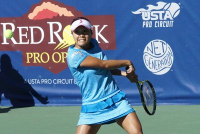 Japan's Nara Upsets Former Red Rock Pro Open Champion Singles Champion Lepchenko In First Round