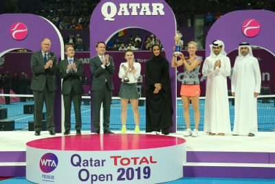 Mertens Masters Halep To Seal Doha Triumph