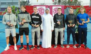 Group photo of the finalists in Doha