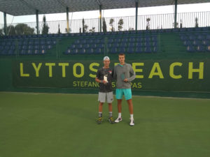David Pichler ITF Wold Tennis Tour Lyttos Beach