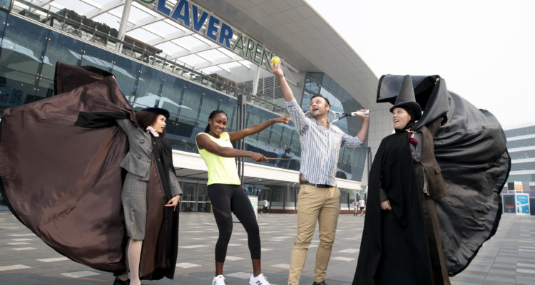 "Cori ""Coco"" Gauff and Harry Potter cast at Australian Open"